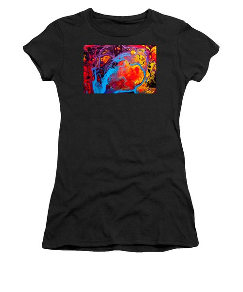 Earth Water Wind Fire - Abstract Painting Women's T-Shirt (Junior Cut) by Modern Art Prints