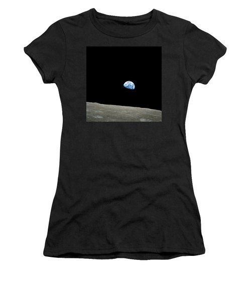 Earthrise - The Original Apollo 8 Color Photograph Women's T-Shirt (Athletic Fit)