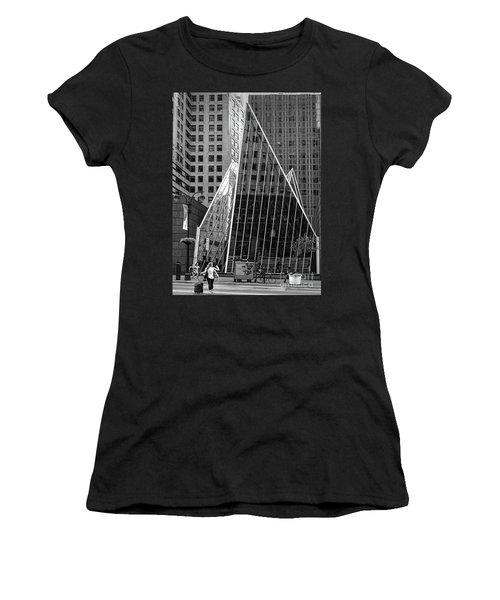 East 42nd Street, New York City  -17663-bw Women's T-Shirt