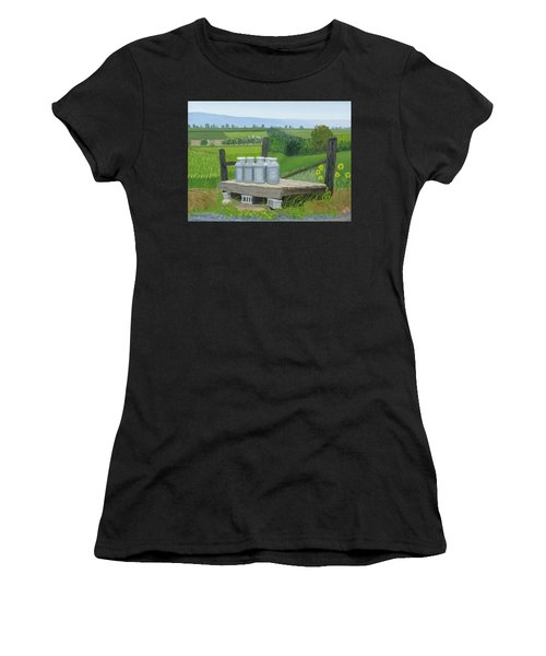 East Back Mountain Road Women's T-Shirt (Athletic Fit)