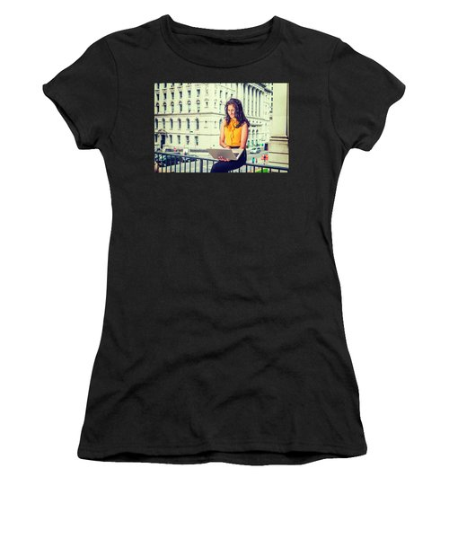 East Indian American Businesswoman In New York Women's T-Shirt