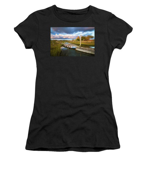 East Moriches Reflections Women's T-Shirt (Athletic Fit)