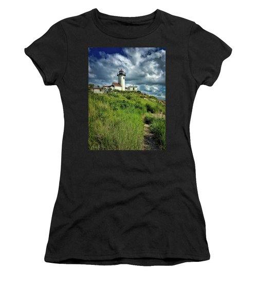Women's T-Shirt featuring the photograph East Point Lighthouse by Andrea Platt