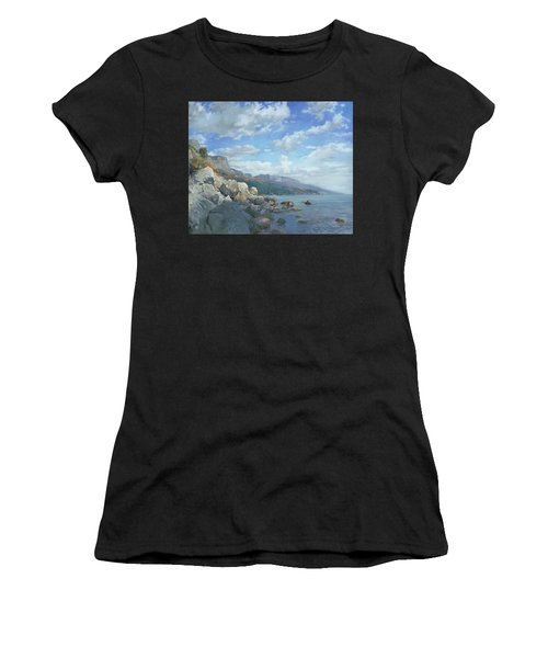 East View. A Seascape In The Vicinity Of Foros Mmxi Women's T-Shirt