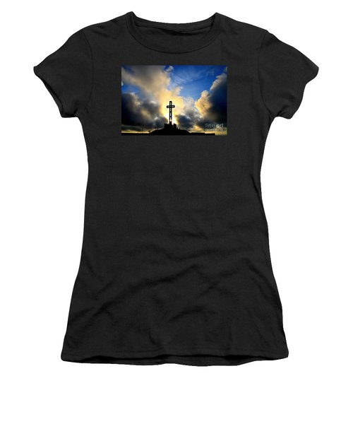 Easter Cross Women's T-Shirt (Athletic Fit)