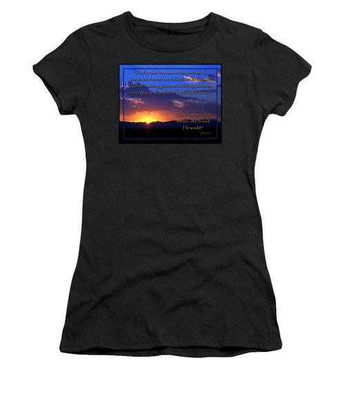 Easter Sunrise - He Is Risen Women's T-Shirt (Athletic Fit)
