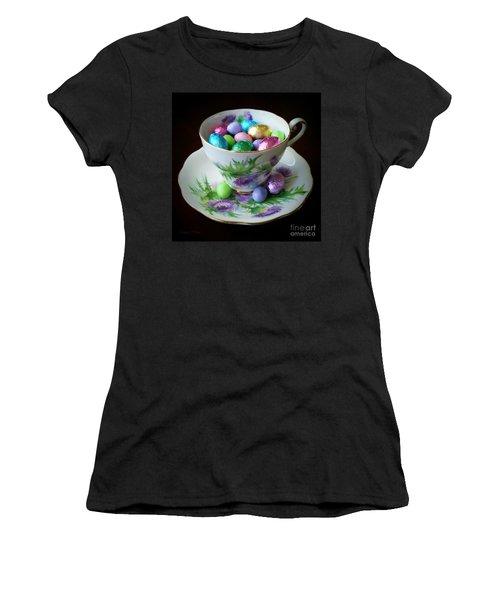 Easter Teacup Women's T-Shirt (Junior Cut) by Robert ONeil