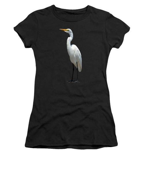 Eastern Great Egret Ardea Alba Modesta Women's T-Shirt (Athletic Fit)