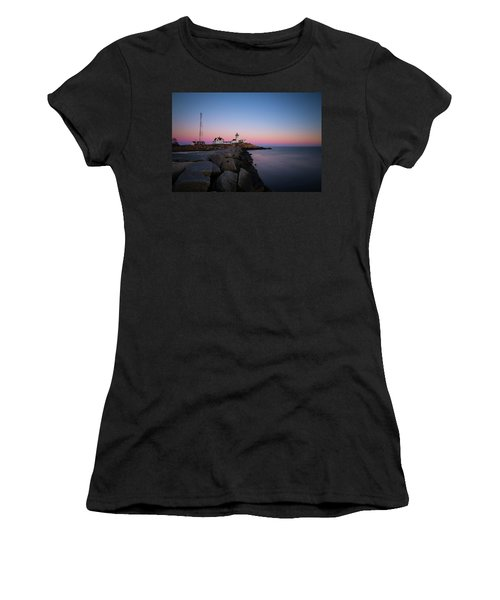 Women's T-Shirt featuring the photograph Eastern Point Sunset 2 by Brian Hale
