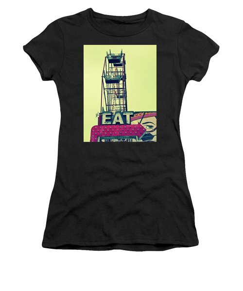 Eat Sign Women's T-Shirt (Athletic Fit)