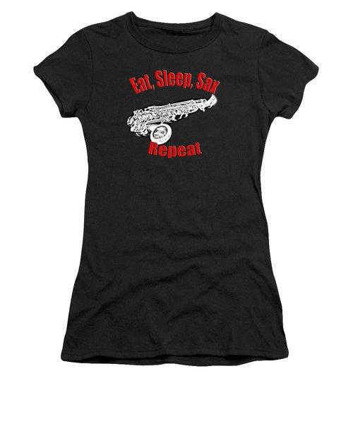 Eat Sleep Sax Repeat Women's T-Shirt