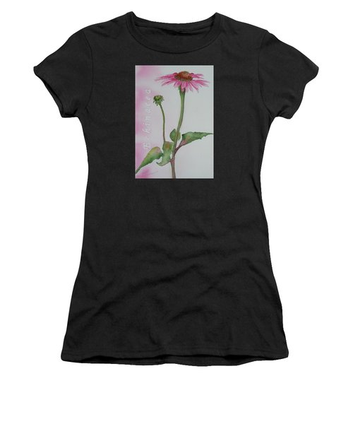 Women's T-Shirt featuring the painting Echinacea by Ruth Kamenev