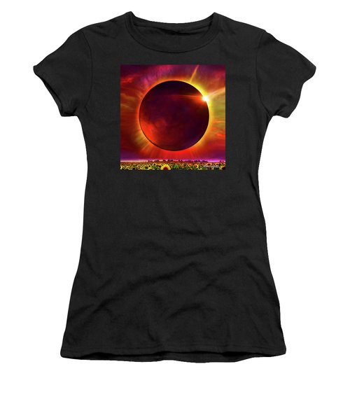 Eclipse Of The Sunflower Women's T-Shirt