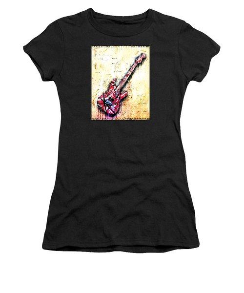 Eddie's Guitar Variation 07 Women's T-Shirt (Junior Cut) by Gary Bodnar