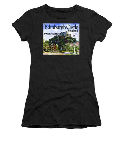 Edinburgh Castle Women's T-Shirt (Athletic Fit)