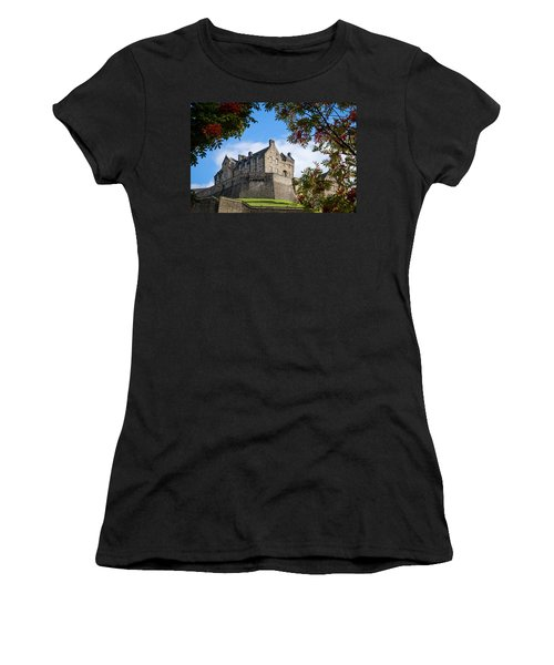 Women's T-Shirt (Athletic Fit) featuring the photograph Edinburgh Castle by RKAB Works