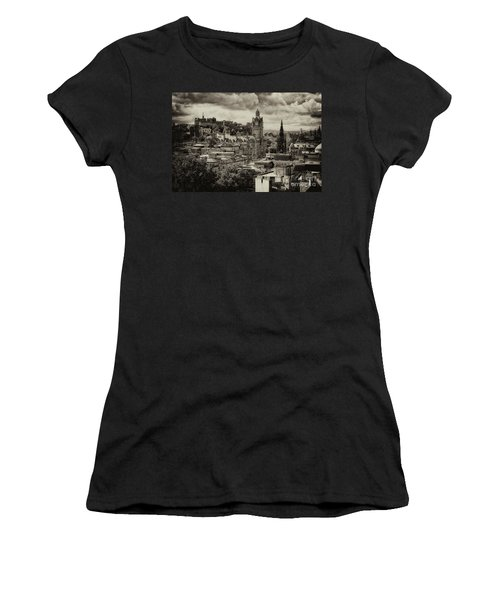 Women's T-Shirt (Athletic Fit) featuring the photograph Edinburgh In Scotland by Jeremy Lavender Photography