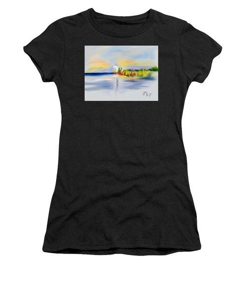 Egret Bliss Women's T-Shirt (Athletic Fit)