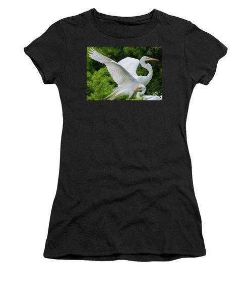 Egret Family Women's T-Shirt