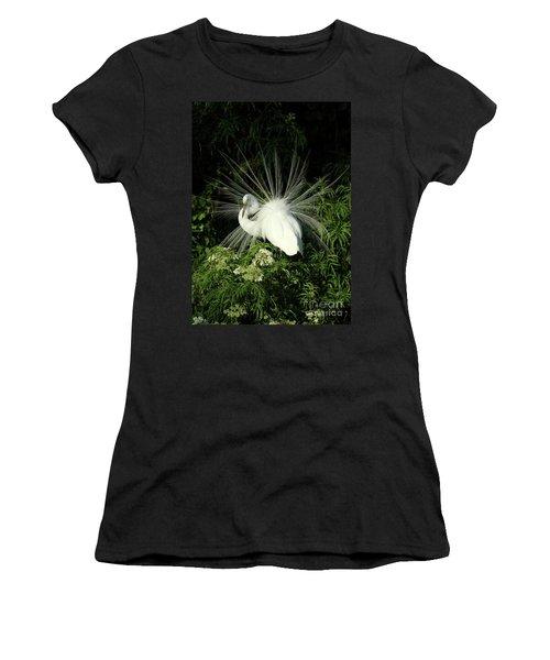 Egret Fan Dancer Women's T-Shirt