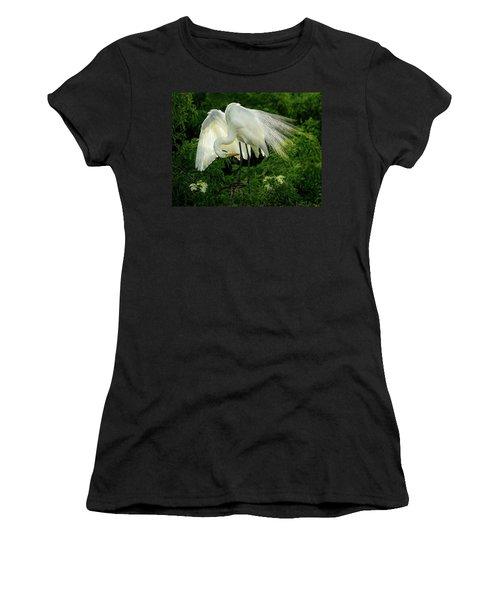 Egret Preening Women's T-Shirt
