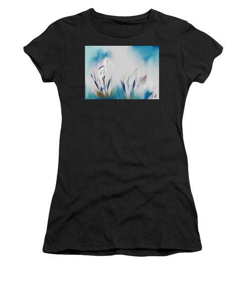 Egret Splash Women's T-Shirt (Athletic Fit)