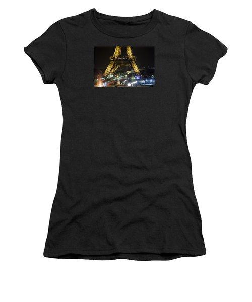 Eiffel Tower Women's T-Shirt (Junior Cut) by Andrew Soundarajan