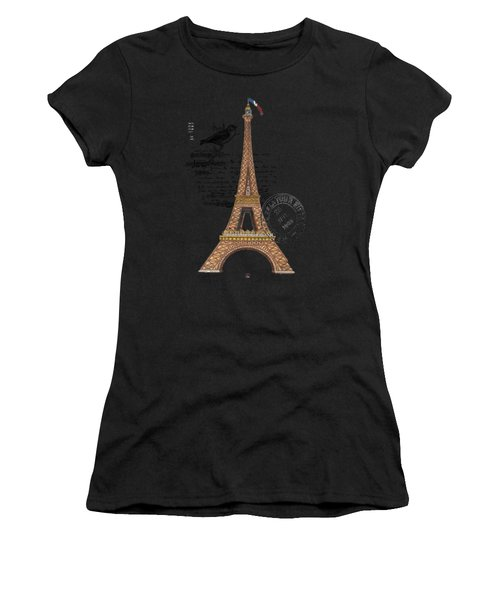 Eiffel Tower T Shirt Design Women's T-Shirt (Athletic Fit)