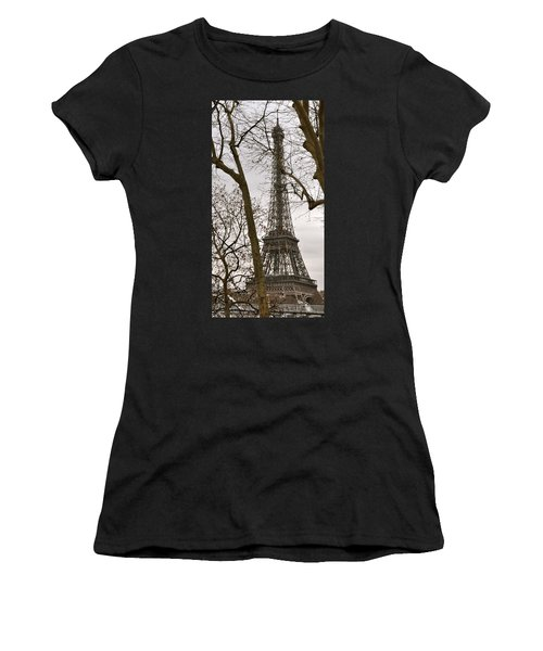 Eiffel Tower Through Branches Women's T-Shirt (Athletic Fit)