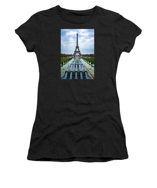 Eiffeltower From Trocadero Garden Women's T-Shirt (Athletic Fit)