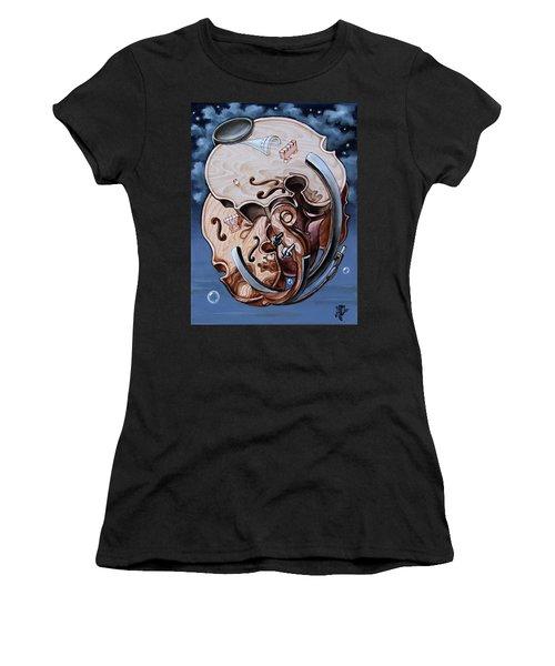 Einstein's Violin. Op.2763 Women's T-Shirt (Athletic Fit)