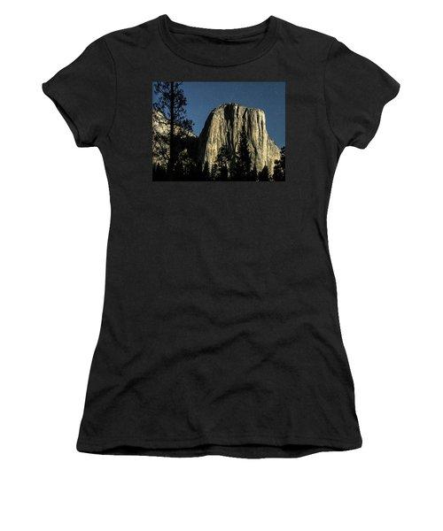 El Capitan By Starlight, Yosemite Valley, Yosemite Np, Ca Women's T-Shirt