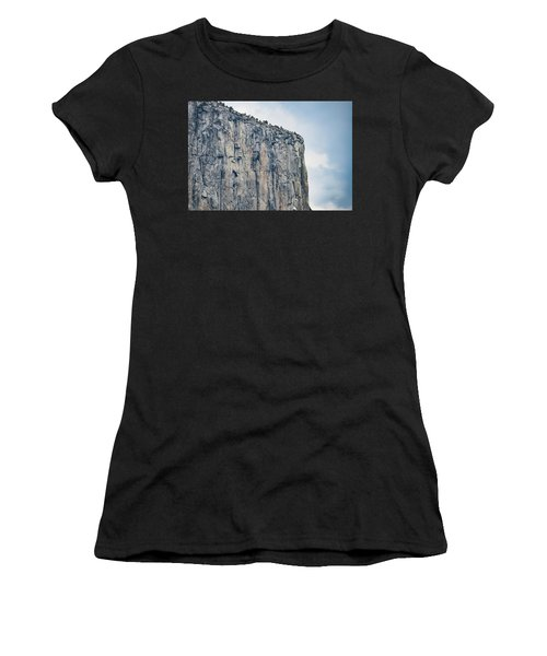 El Capitan Up Close And Personal From Tunnel View Yosemite Np Women's T-Shirt
