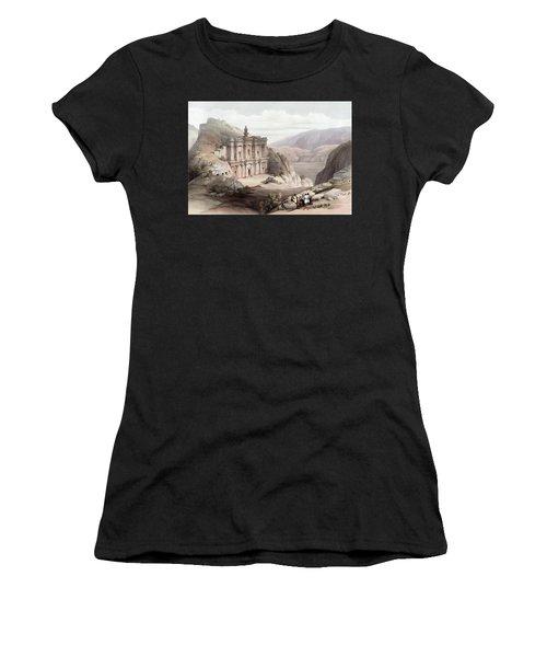 El Deir Petra 1839 Women's T-Shirt (Athletic Fit)