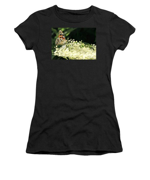 Elderflower And Butterfly Women's T-Shirt
