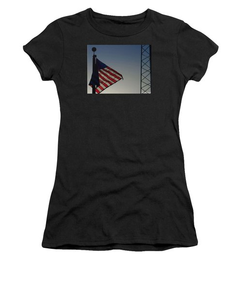 Electric Flag Women's T-Shirt (Athletic Fit)