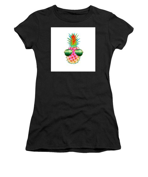 Electric Pineapple With Shades Women's T-Shirt