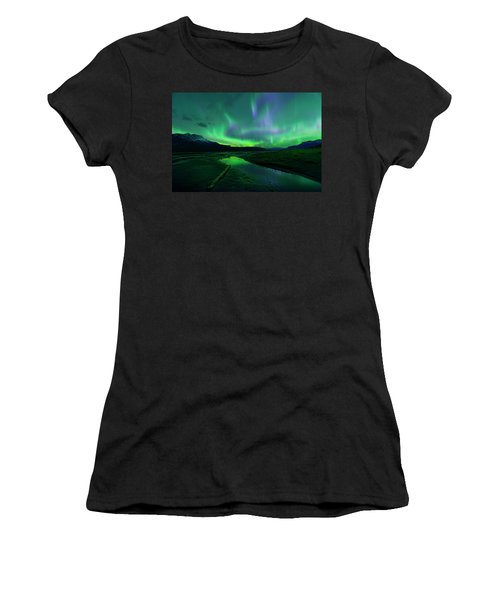 Electric Skies Over Jasper National Park Women's T-Shirt
