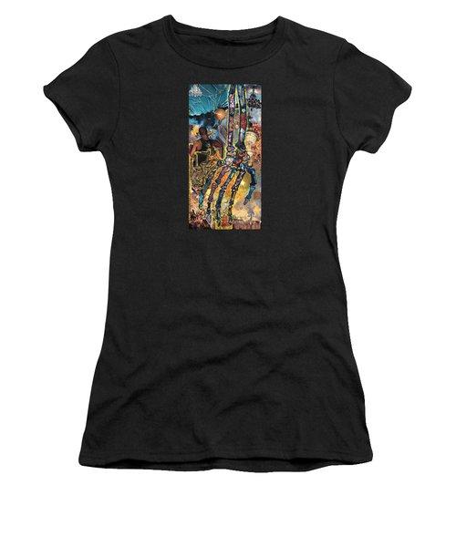 Electricity Hand La Mano Poderosa Women's T-Shirt (Athletic Fit)
