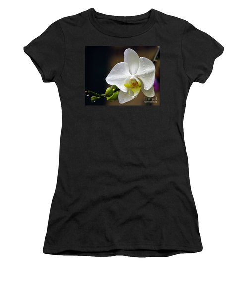 Elegance In White Women's T-Shirt (Athletic Fit)