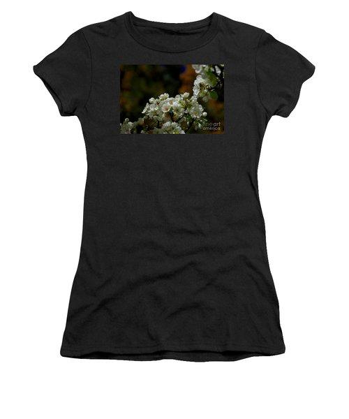 Elegantly White Women's T-Shirt (Junior Cut) by Vicki Pelham
