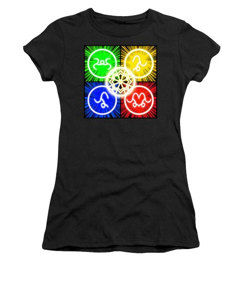 Women's T-Shirt (Athletic Fit) featuring the digital art Elements Of Consciousness by Shawn Dall