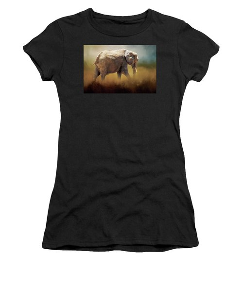 Elephant In The Mist Women's T-Shirt (Athletic Fit)
