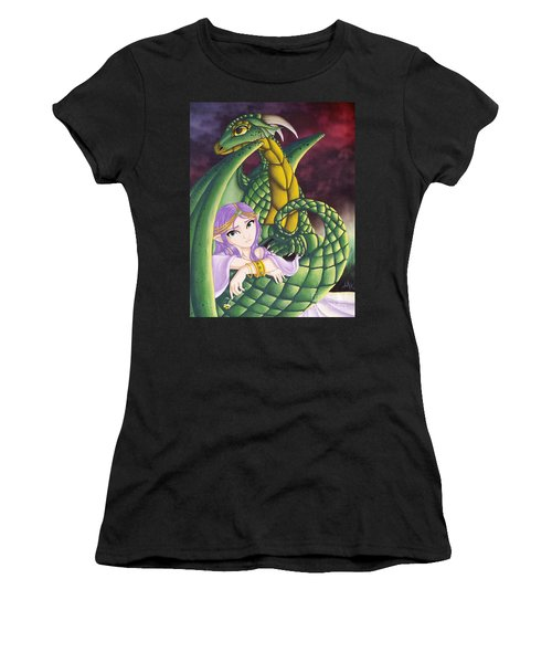 Elf Girl And Dragon Women's T-Shirt (Athletic Fit)