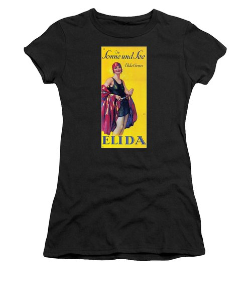 Elida Cremes In Sonne Und See - Woman In Swimsuit - Vintage Advertising Poster Women's T-Shirt