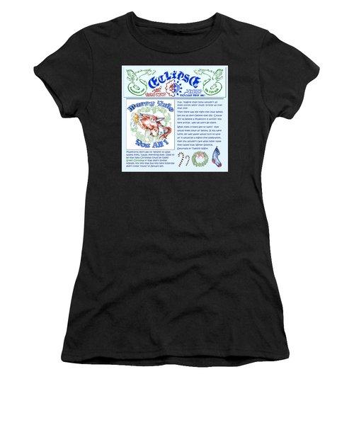 Real Fake News Merry Yule Column Women's T-Shirt