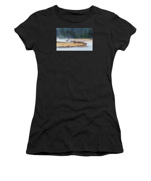 Elk Crossing Women's T-Shirt (Athletic Fit)