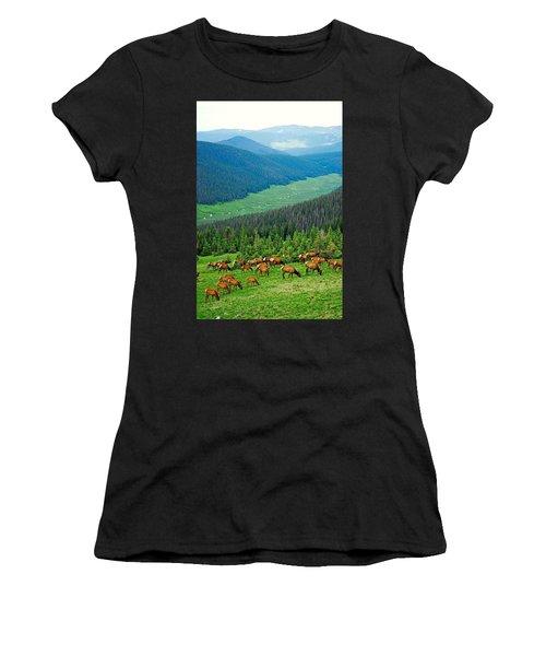 Elk Highlands Women's T-Shirt (Athletic Fit)