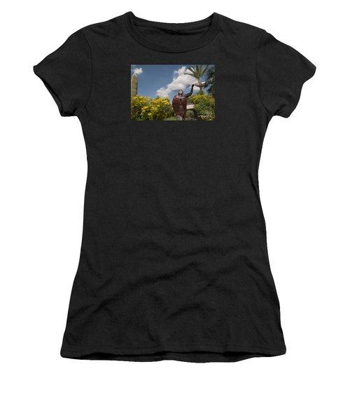 Elk Woman Walking Women's T-Shirt