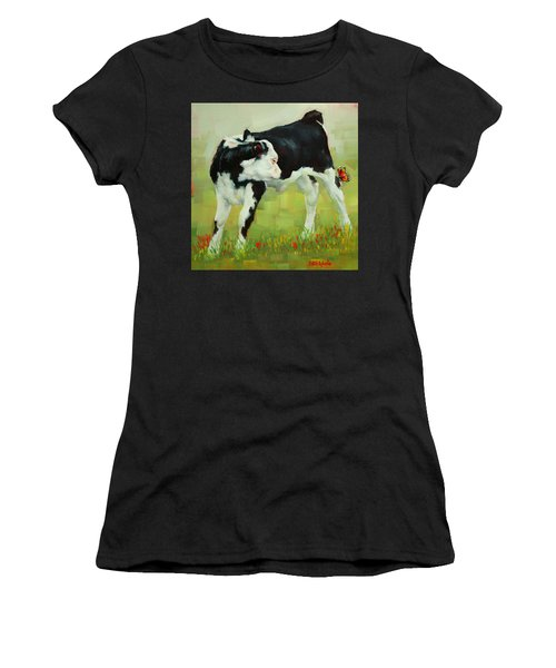 Elly The Calf And Friend Women's T-Shirt (Athletic Fit)